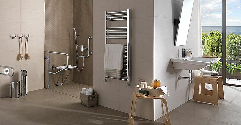 Accesorios Baño Adaptado:Baños más accesibles con las ayudas pasivas de Porcelanosa