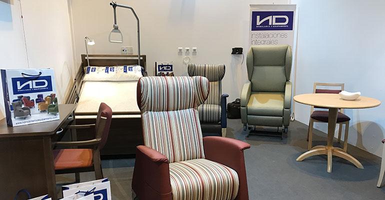 Novedades en camas y sillones de ND Mobiliario y Equipamiento en HIP 2018