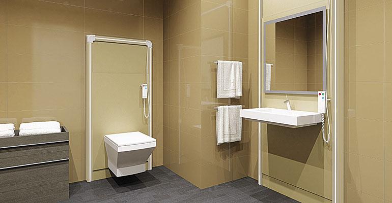 Sanimatic, el sistema que permite regular la altura del WC o lavabo con telemando