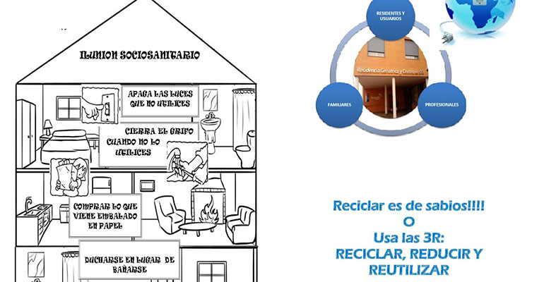 Detalle de uno de los folletos de Ilunion Sociosanitario sobre reciclaje