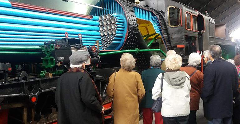 Ilunion visita Mueso del Ferrocarril
