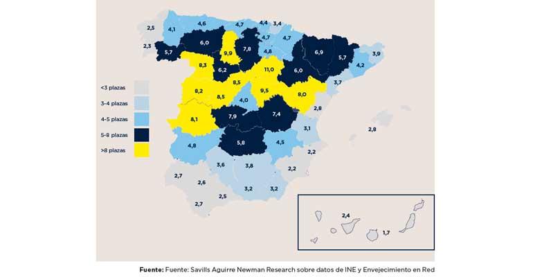 España necesita 1.000 nuevas residencias de mayores para cumplir con las recomendaciones de la OMS
