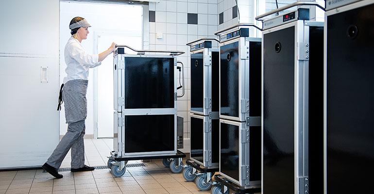 Carros isotérmicos ScanBox para restauración sociosanitaria