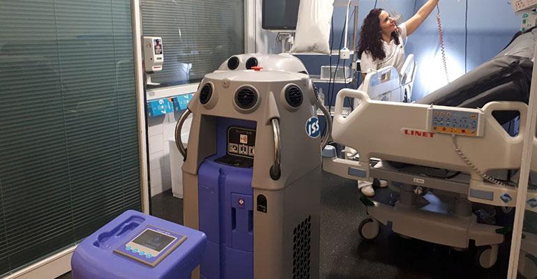 Vaporización por peróxido de hidrógeno, el nuevo sistema de desinfección hospitalaria de ISS Iberia para acabar con los microorganismos patógenos