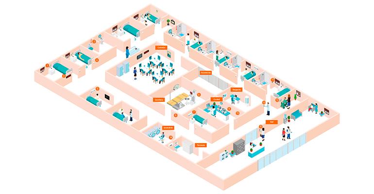 Ibernex muestra cómo funciona el sistema de llamadas paciente-enfermera en una residencia