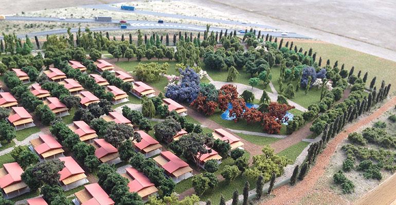 Vista aérea del complejo Rivum Holiday Resort