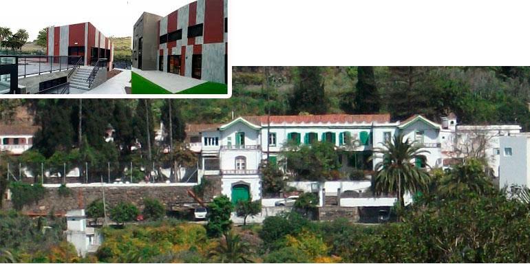 El centro original de Santa Brígida (en grande),y el centro situado en Los Hoyos (foto pequeña), conforman este complejo de salud mental adquirido por DomusVi