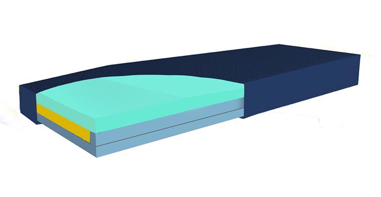 Colchón híbrido de celdas de aire
