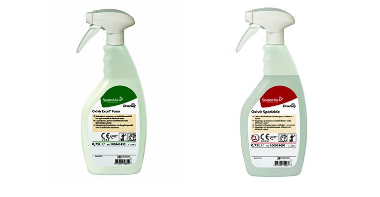 Diversey lanza al mercado hospitalario español nuevas formulaciones dentro de su familia de desinfectantes de Peróxido de Hidrógeno Acelerado (AHP).