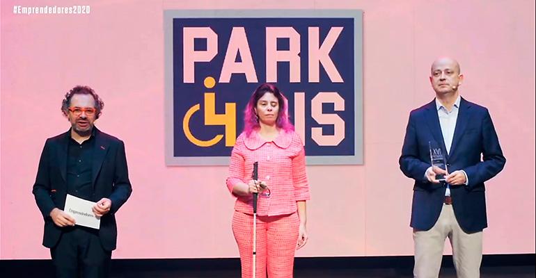 El premio Por Talento al Emprendedor con Discapacidad recae en la empresa Park4dis