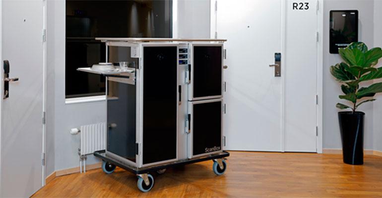 Los carros Scanbox son perfectos para el servicio de comidas en distancia social